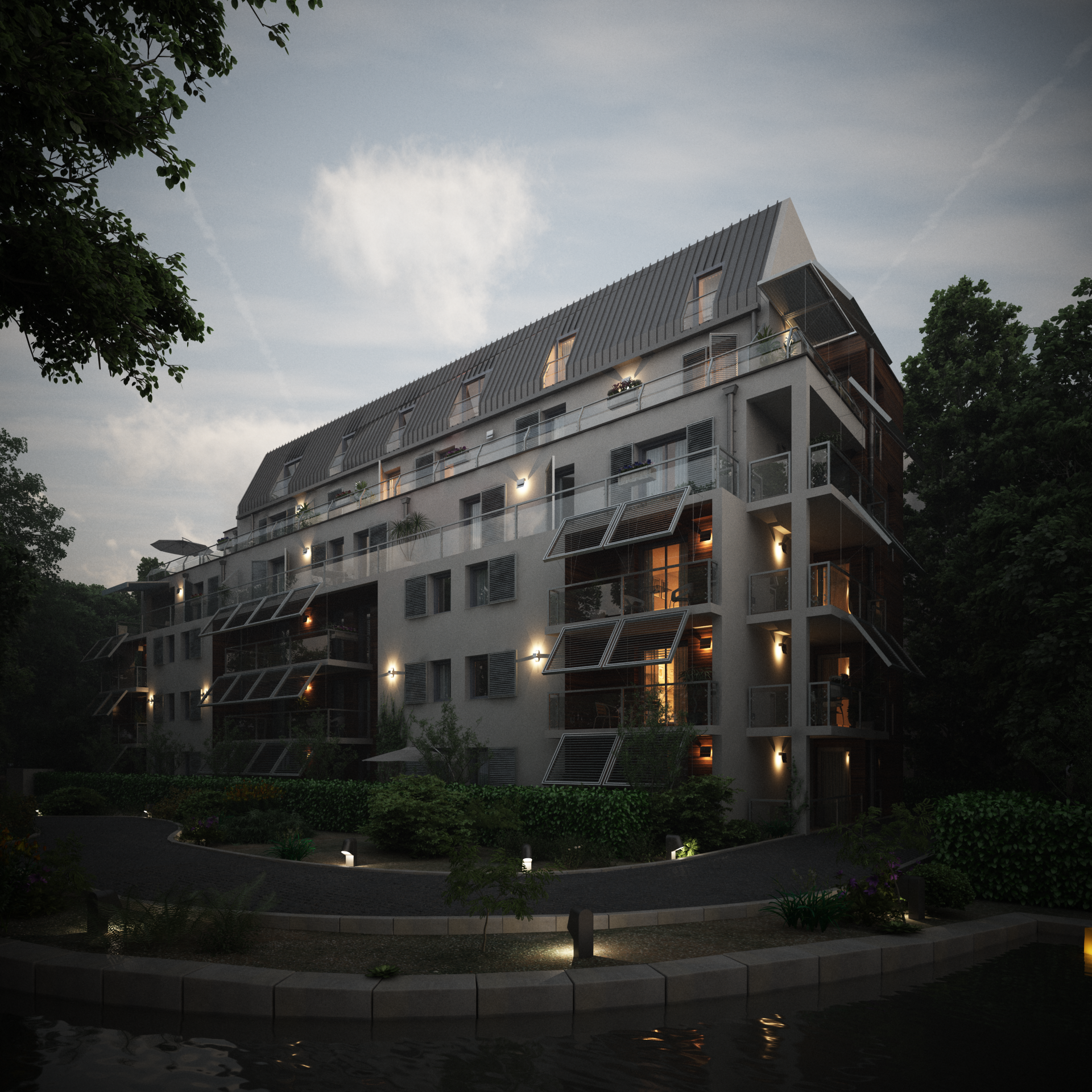 Appartment Complex - Night by externible