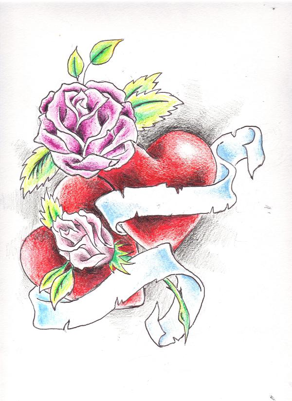Hearts and Roses by Crystal-Raiyn on DeviantArt