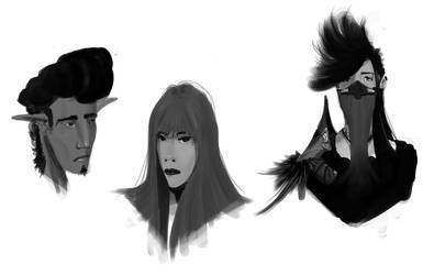Face Doodles by AngelOfChaos01