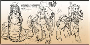 DND Character Design Commission (WIP1)