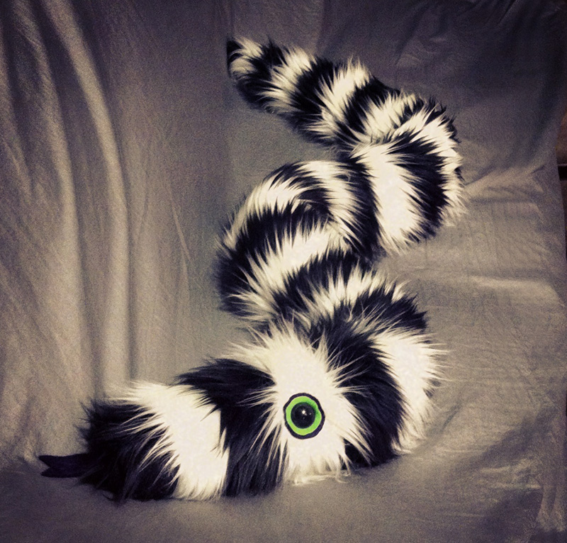 Burton the Big Striped Snake by mintconspiracy