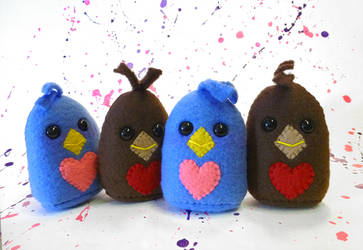 Valentine's Day 2015: Bluebirds and Robins by mintconspiracy