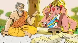 Vyasa and Ganesha - Rise of Mahabharata