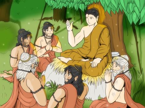 Gautama Buddha and Pancavagiyas