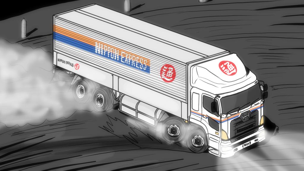 Buy A Truck >> Hino Profia - Nippon Express drift by VachalenXEON on DeviantArt