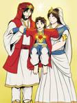 Divine Family - India costume version
