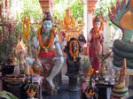 Mahadev and Parvati statue