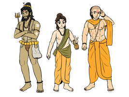 Styles of Hindu priest by VachalenXEON