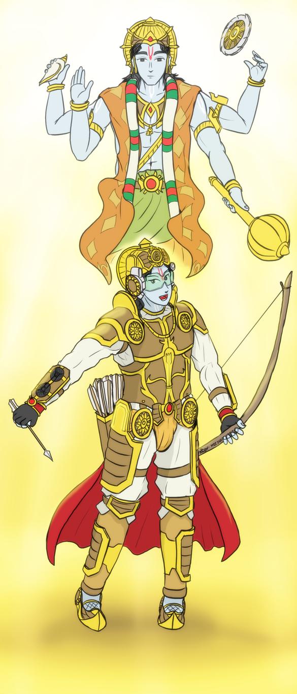Hare Rama - Cybernetic Ikshvaku Navami by VachalenXEON