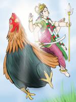 Bahuchara Mata - The Rooster rush by VachalenXEON