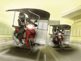 Thailand sidecar moto-league by VachalenXEON
