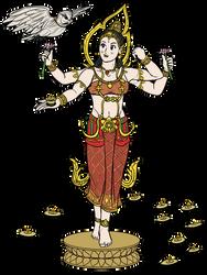 Diwali - Lakshmi Siamese costume by VachalenXEON