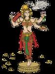 Diwali - Lakshmi Telugu costume by VachalenXEON