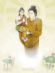 Shakyamuni - Finding great treasure by VachalenXEON