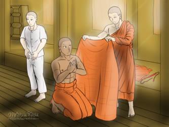 Bhikkhu - The end of Vassa by VachalenXEON