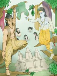 Govinda academy - Gopi snan flirting