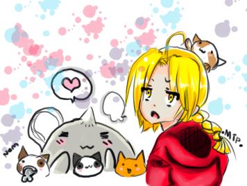 Alphonse loves his nekos by MorbidPixelz