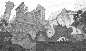 Water Dragon Temple Concept