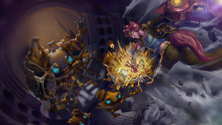 Orchestro Bot Boss Fight by fluffycatfish