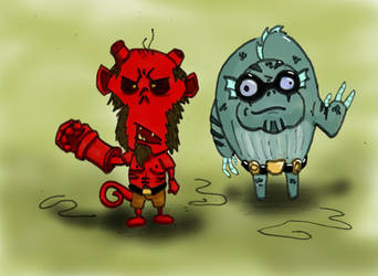 Don't Starve Crossover Hellboy by MilleniumCount