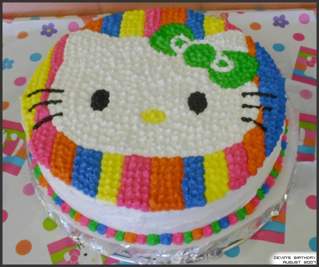 2007 Hello Kitty Birthday Cake by Aleonne on DeviantArt