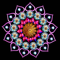 Heart Mandala by Capstoned