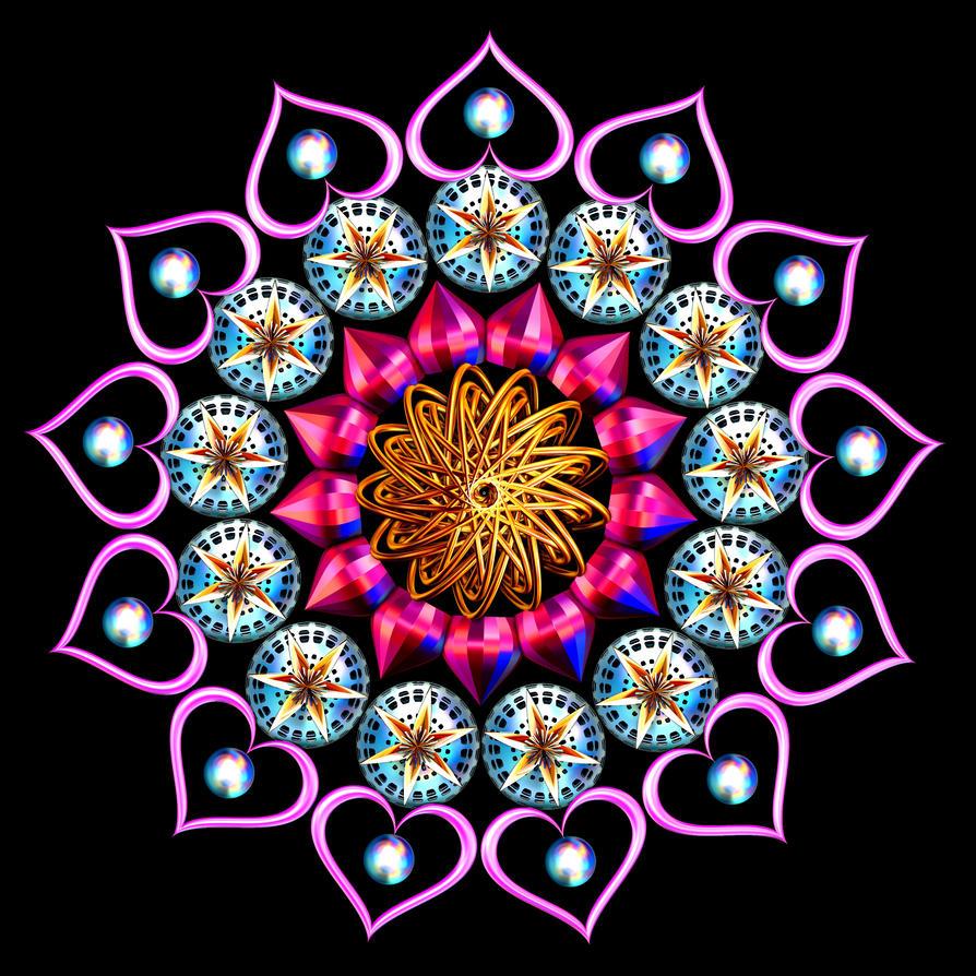Heart Mandala by Capstoned