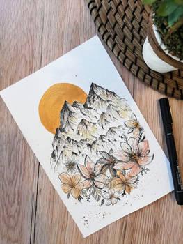 Ink pen illustration