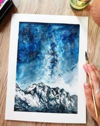 mountains galaxy