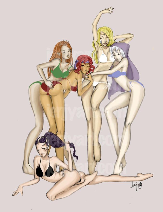 mana girls by JENJYart