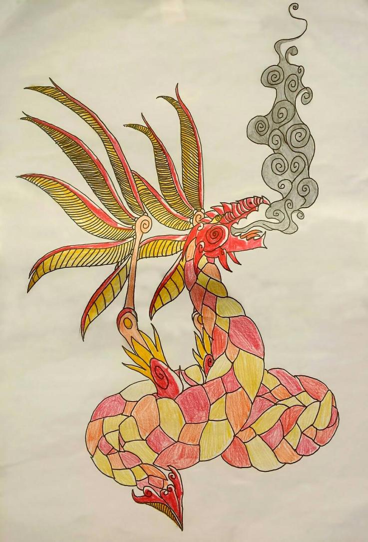 celtic dragon  by derberderbert