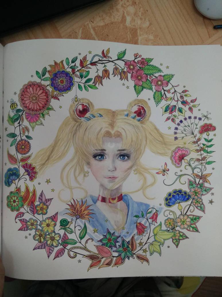 Sailor Moon in the secret garden coloring book by ...