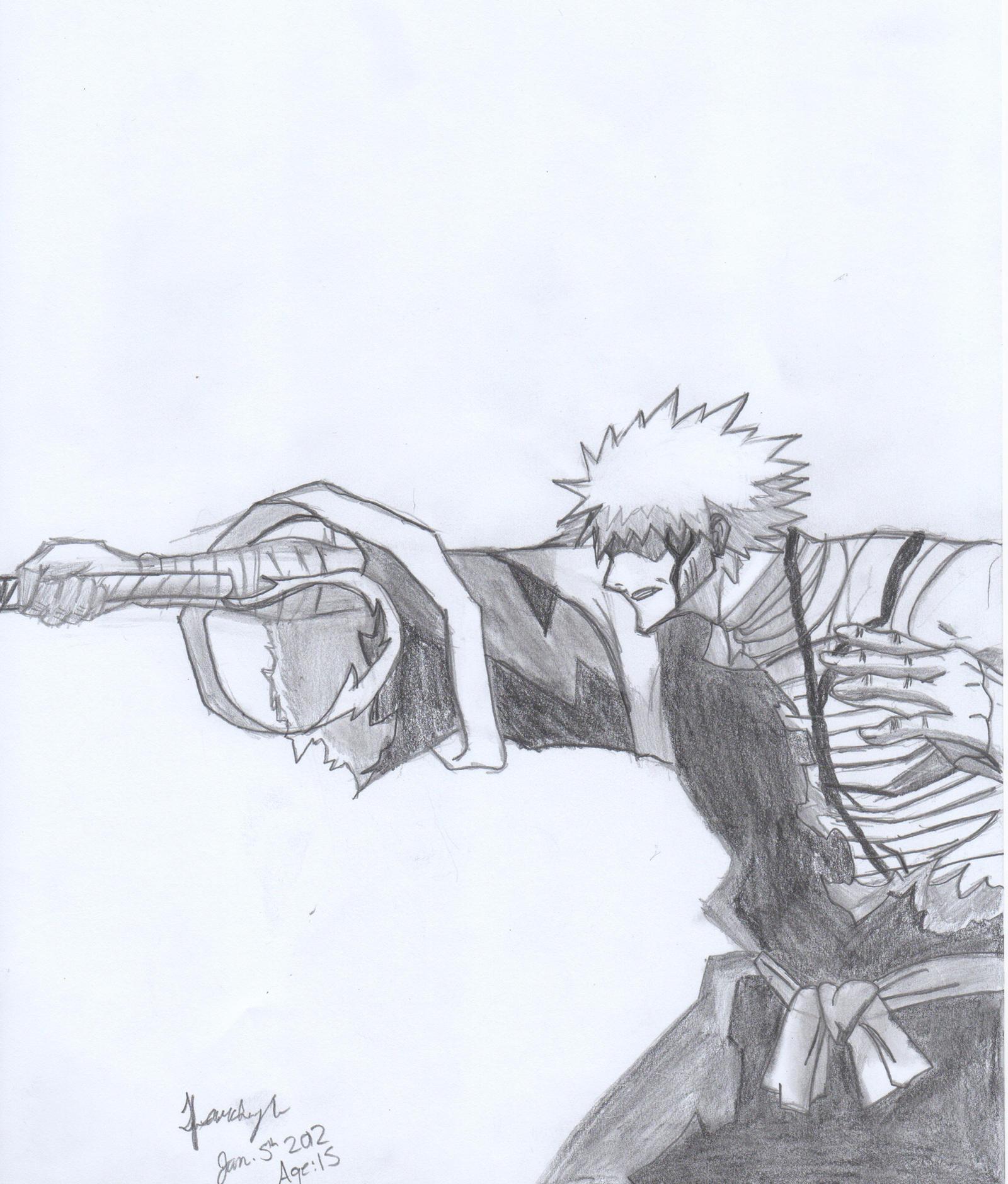Ichigo Bankai Stance by ArtBourne