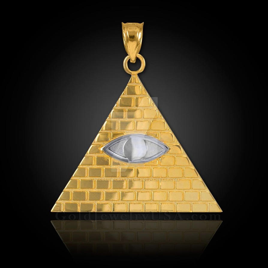 Gold illuminati pyramid all seeing eye pendant e by gold illuminati pyramid all seeing eye pendant e by tacominecraftgamer mozeypictures Gallery