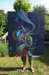 canvas 100x120 Life is organic
