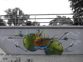 Hasselt wall by uconique