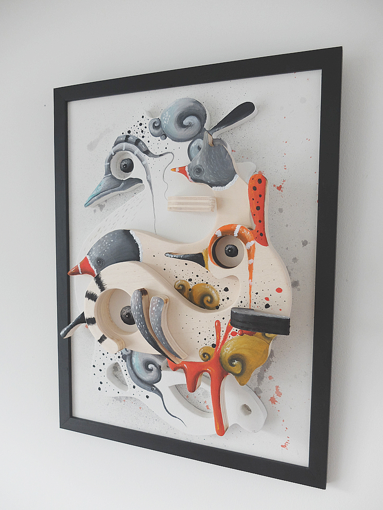 Mixmedia on multiplex wood by uconique