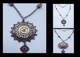 Steampunk Flower Necklace 2 by tanyadavisart