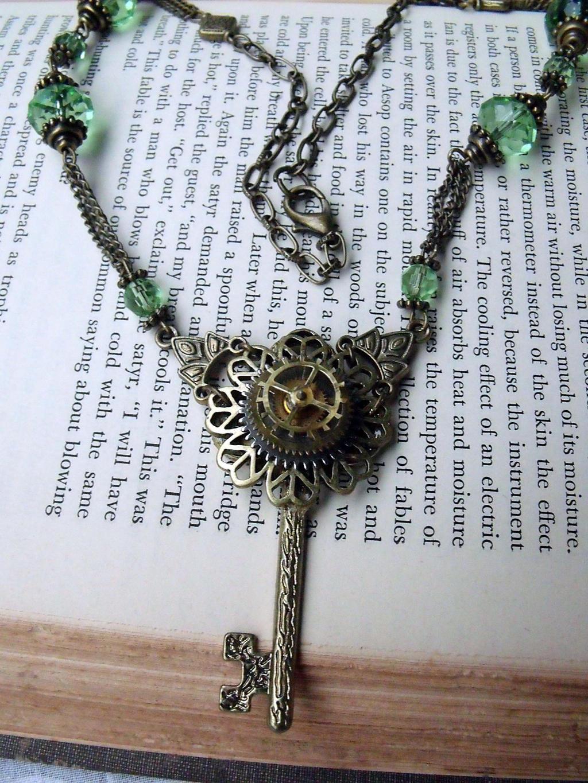 KeyGear Necklace Steampunk by tanyadavisart