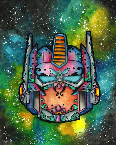 SugarSkull-OptimusPrime by tanyadavisart