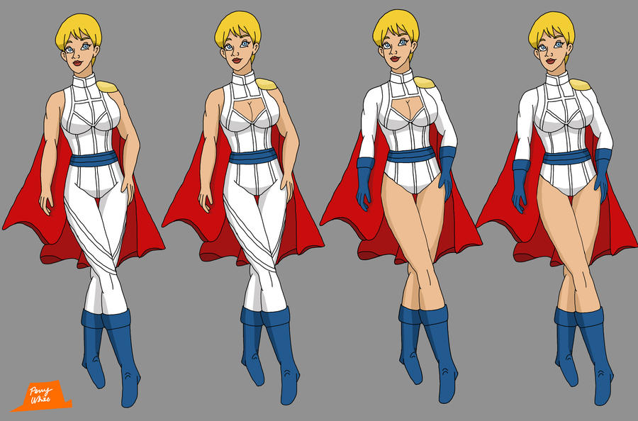 Power Girl Redesign Variations by PerryWhite on DeviantArt