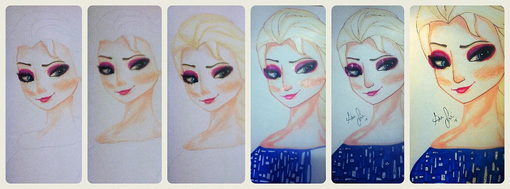 WIP Elsa by DreamInColorz