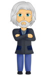 Hank Anderson chibi (and pagedoll) by MuskyCat90