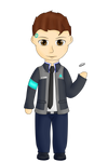 Connor chibi and pagedoll by MuskyCat90