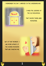 JustTale: The broken angel. Page 1 by MuskyCat90