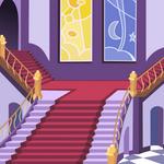 mlp S2E1 canterlot castle main stairs