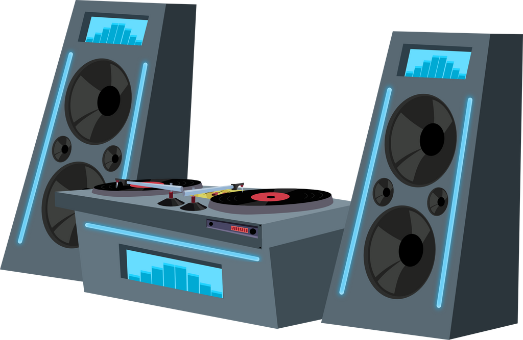 dj sound system png. dj deck n\u0027 speakers by matty4z sound system png