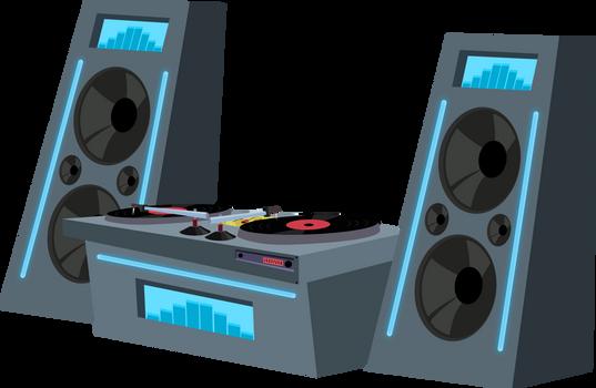 dj deck n' speakers