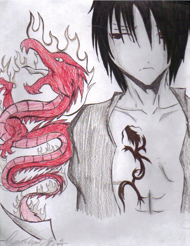 Fire dragon boy by xtaintedxbloodx on deviantart - Anime boy dragon ...