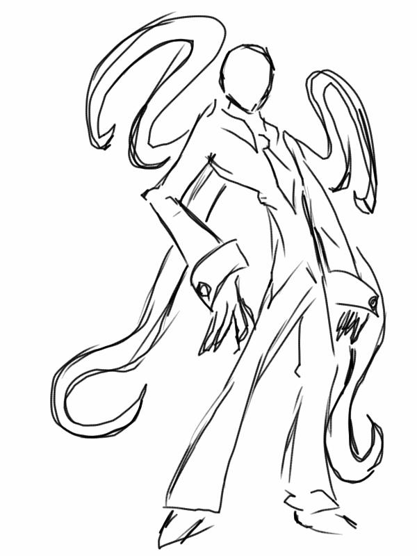 Slender Man Easy Drawing Slender Man Drawings Full Body